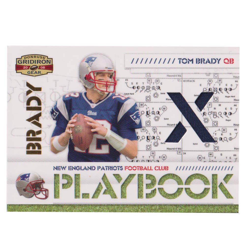 NFL トム・ブレイディ ペイトリオッツ トレーディングカード/スポーツカード 【1点物】2008 ジャージ カード 9/250 Donruss