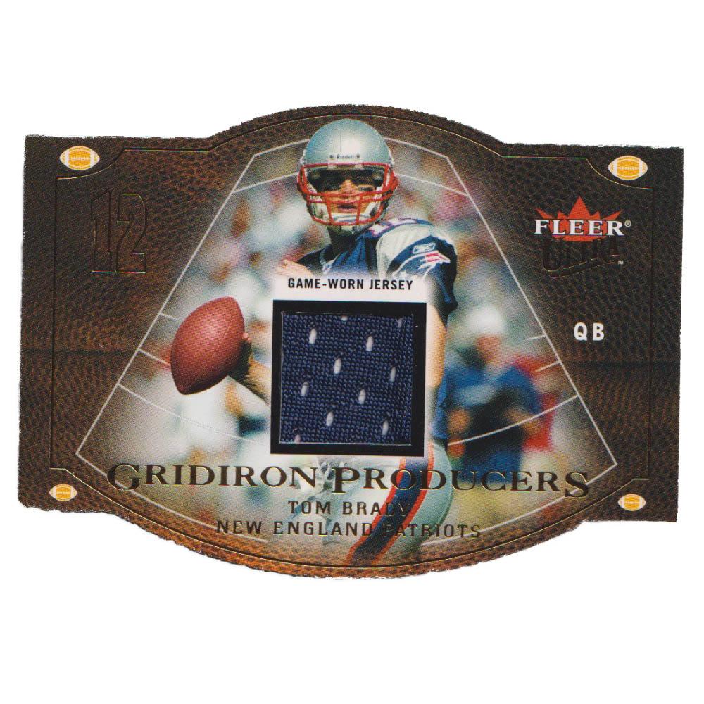 NFL トム・ブレイディ ペイトリオッツ トレーディングカード/スポーツカード 【1点物】2004 ジャージ カード 61/77 Fleer