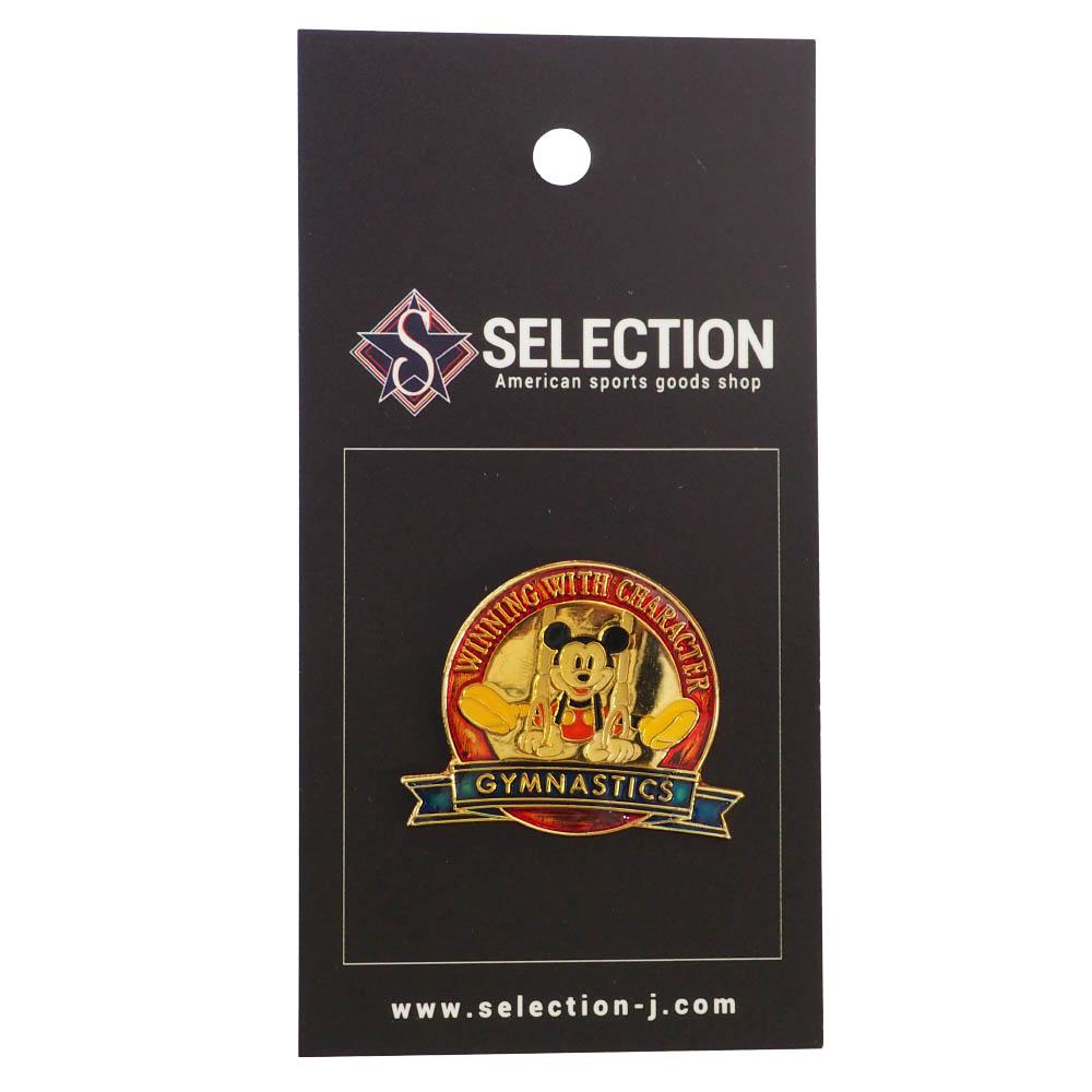ミッキー USA ディズニー1996 アトランタ Winning with Character Pin : Gymnastics ピンズ ピンバッチ