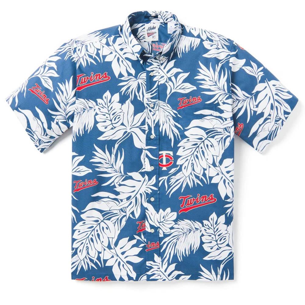 MLB ミネソタ・ツインズ アロハシャツ ハワイアンシャツ Reyn Spooner ネイビー