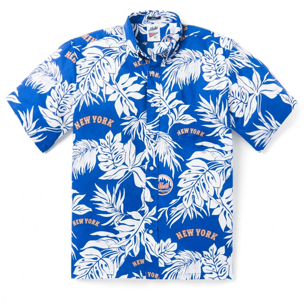 MLB ニューヨーク・メッツ アロハシャツ ハワイアンシャツ Reyn Spooner ブルー
