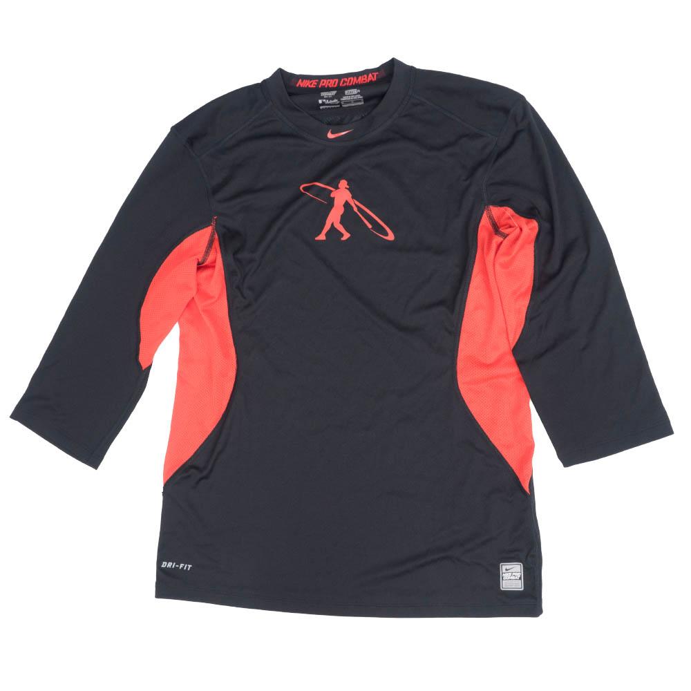 Nike GRIFFEY ケン・グリフィー・ジュニア Tシャツ スイングマン プロ コンバット コア 1.3 ブラック/レッド 578313-010