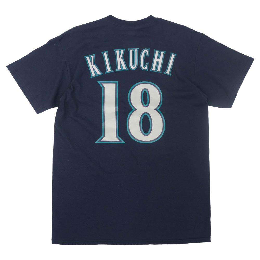 MLB 菊池 雄星 シアトル・マリナーズ Tシャツ ネーム&ナンバー マジェスティック/Majestic ネイビー