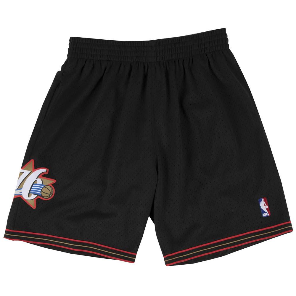 NBA フィラデルフィア・76ers ショートパンツ/ショーツ スウィングマン ハーフパンツ ミッチェル&ネス/Mitchell & Ness ブラック