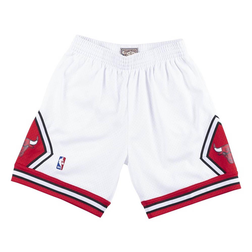 NBA シカゴ・ブルズ ショートパンツ/ショーツ スウィングマン ミッチェル&ネス/Mitchell & Ness ホワイト トレーニング特集