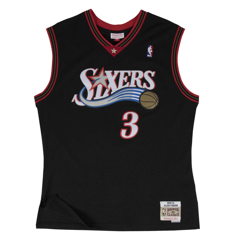 NBA アレン・アイバーソン フィラデルフィア・76ers ユニフォーム/ジャージ スウィングマン ミッチェル&ネス/Mitchell & Ness ブラック