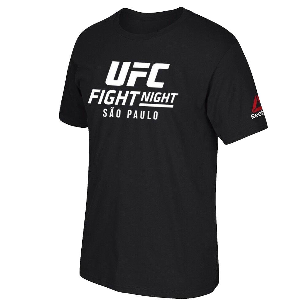 UFC Tシャツ ファイトナイト @ ブラジル サンパウロ イベント グラフィック プリント リーボック/Reebok ブラック
