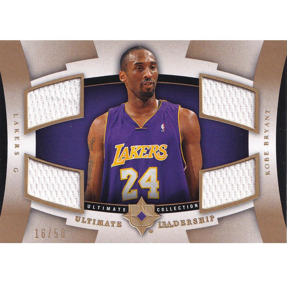 NBA コービー・ブライアント レイカーズ トレーディングカード 2007-08 Ultimate Leadrship Jersey #UL-KB 16/50 Upper Deck