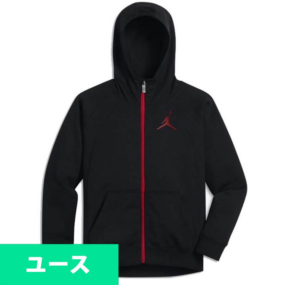 JORDAN パーカー/フーディー キッズ/ユース Full Zip Jumpman Hoodie ナイキ/Nike Black/Red