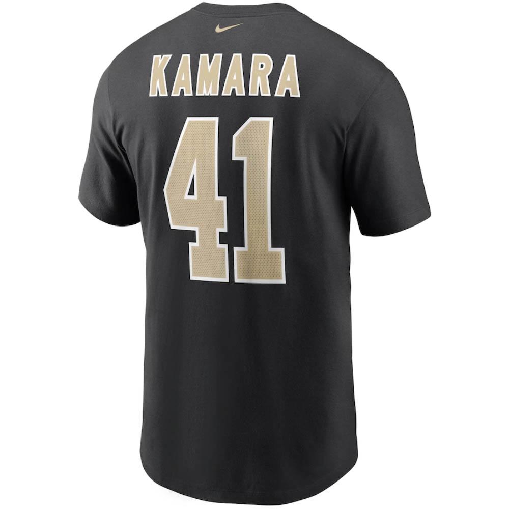 あす楽対応 王道ファングッズ ナイキNFLネーム ナンバーTシャツ NFL アルバン カマラ セインツ 限定モデル OCSL ナンバー ブラック 倉庫 ネーム Nike N199-1 Tシャツ ナイキ
