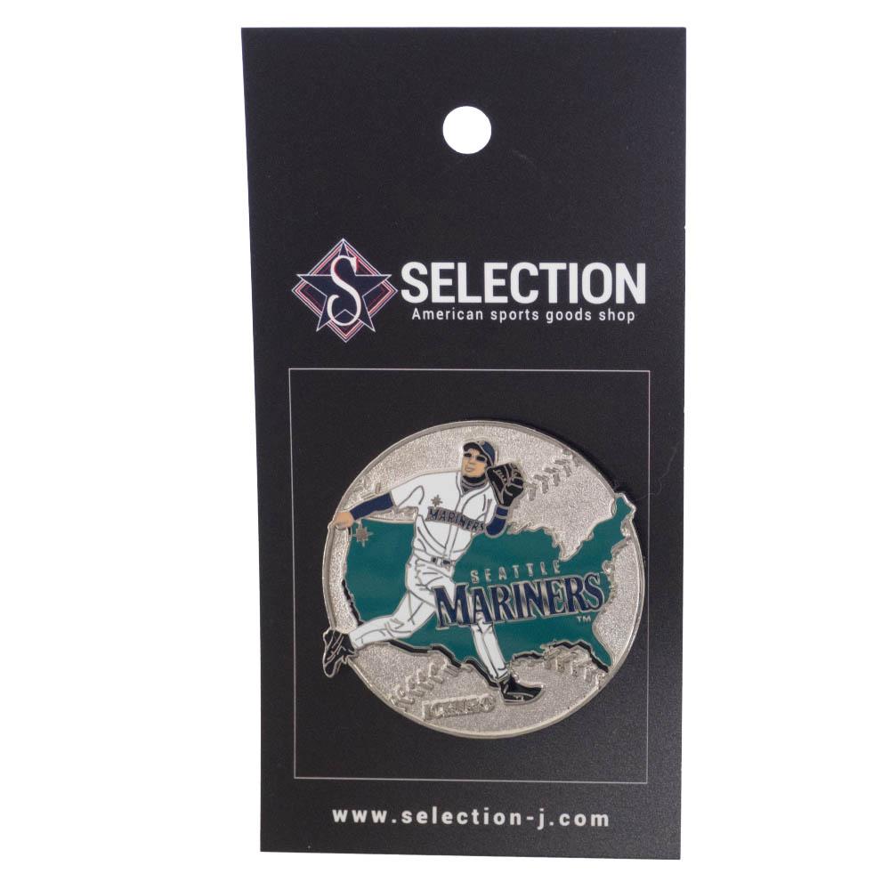 MLB イチロー シアトル・マリナーズ Ichiro USA Ball Pin ピンズ ピンバッジ PSG