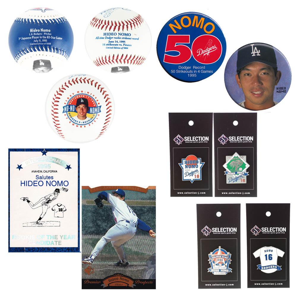 MLB 野茂 英雄 ロサンゼルス・ドジャース 1990's Nomo Memorabilia Collection セット