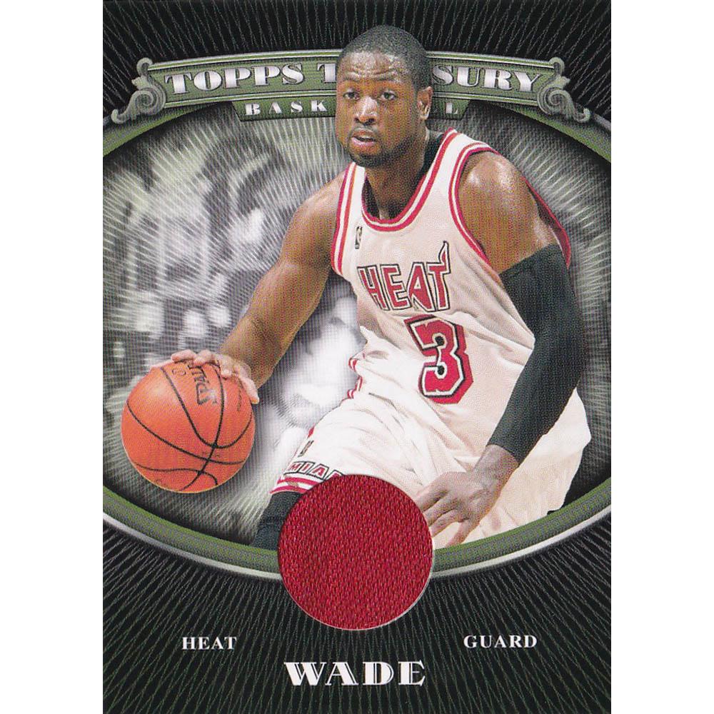 あす楽対応 激レア ドウェイン ウェイド氏ジャージカード NBA ウェイド マイアミ Topps Treasury 希少 商品 Card トレーディングカード Relics 2008-09 ヒート