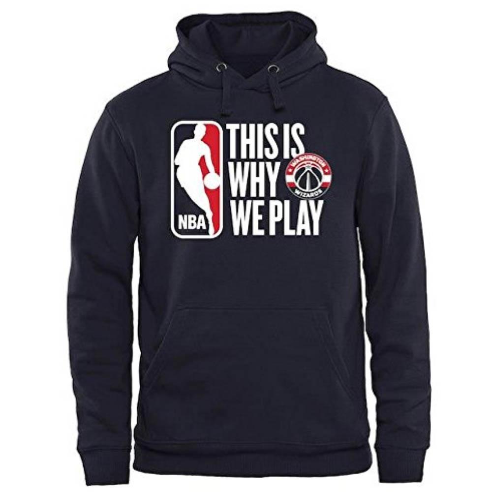 サマーセール 八村塁選手所属 ウィザーズ NBA パーカー/フーディー This Is Why We Play Pullover Hoodie ネイビー