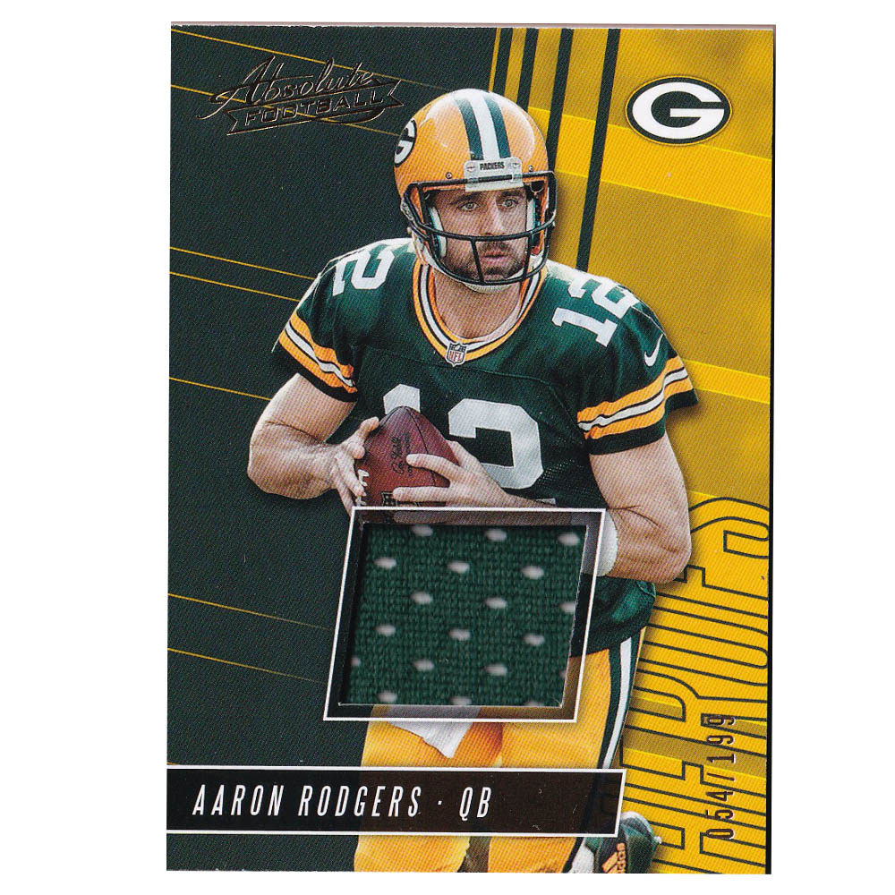 NFL アーロン・ロジャース パッカーズ トレーディングカード 2018 Absolute Heroes Memorabilia Card 054/199 Panini