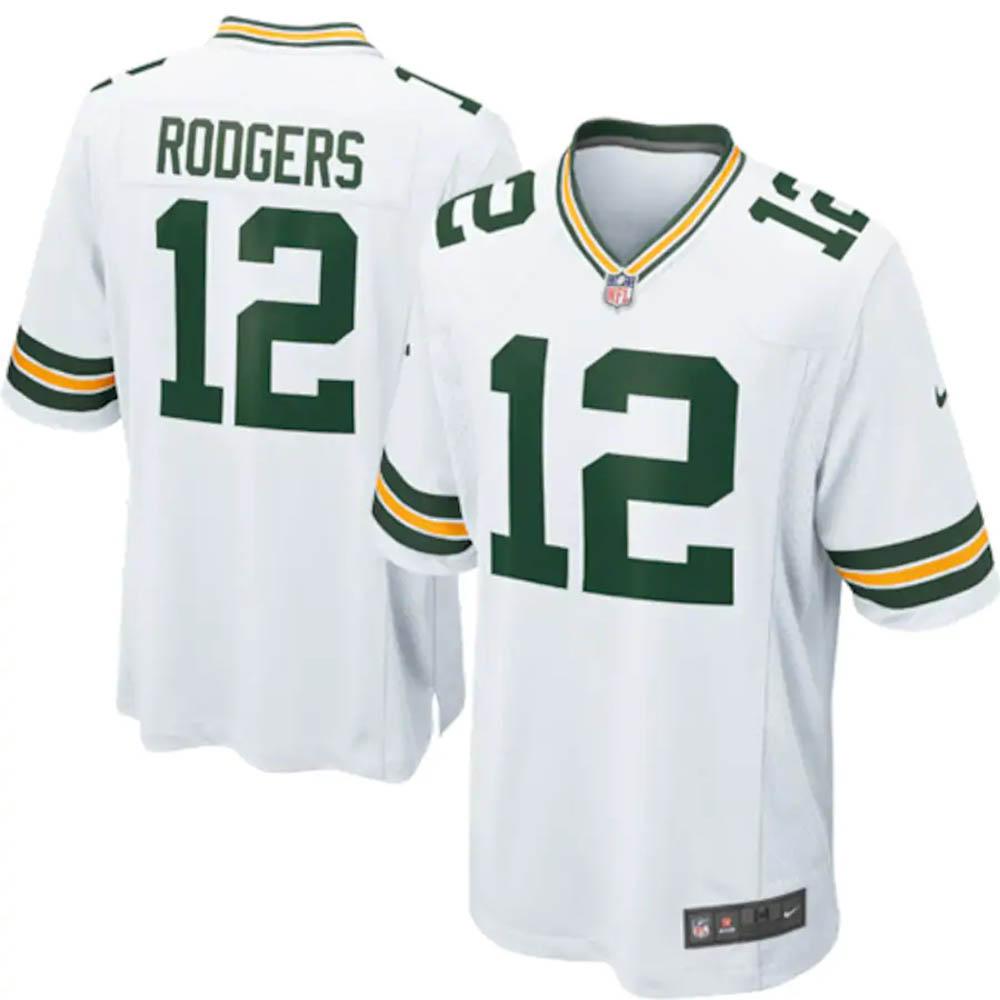 NFL アーロン・ロジャース パッカーズ ユニフォーム/ジャージ Game Jersey ナイキ/Nike ホワイト