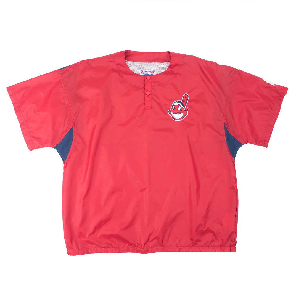 MLB クリーブランド・インディアンス ジャケット/アウター VTGDiamond Collection Cage Jacket ワフー酋長 STARTER レッド