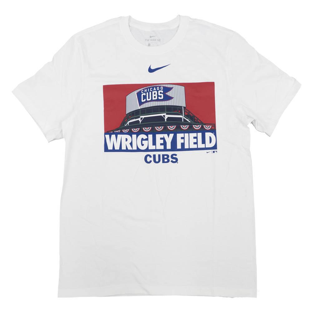 あす楽対応 MLB x 直送商品 ナイキ ホームスタジアムTシャツ シカゴ カブス アイコン OCSL サービス Nike ローカル ホワイト Tシャツ