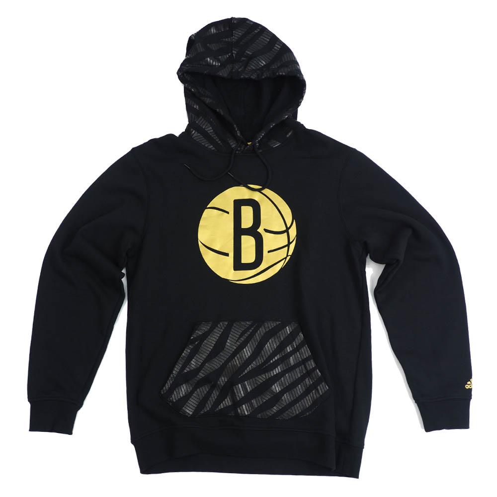 サマーセール NBA ブルックリン・ネッツ パーカー/フーディー Gold Logo PO Hoodie アディダス/Adidas ブラック