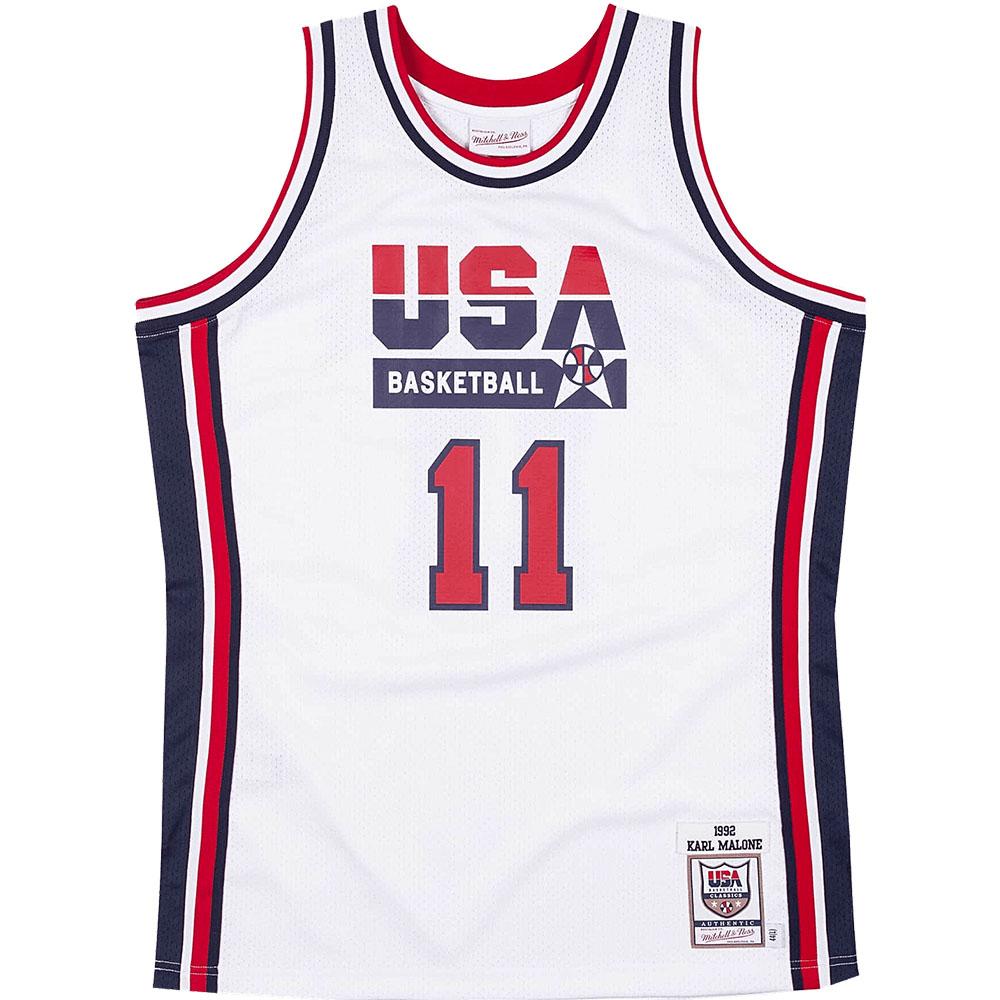 USABB カール・マローン 1992 アメリカ代表 ユニフォーム/ジャージ オーセンティック USA 1992 ドリームチーム ミッチェル&ネス