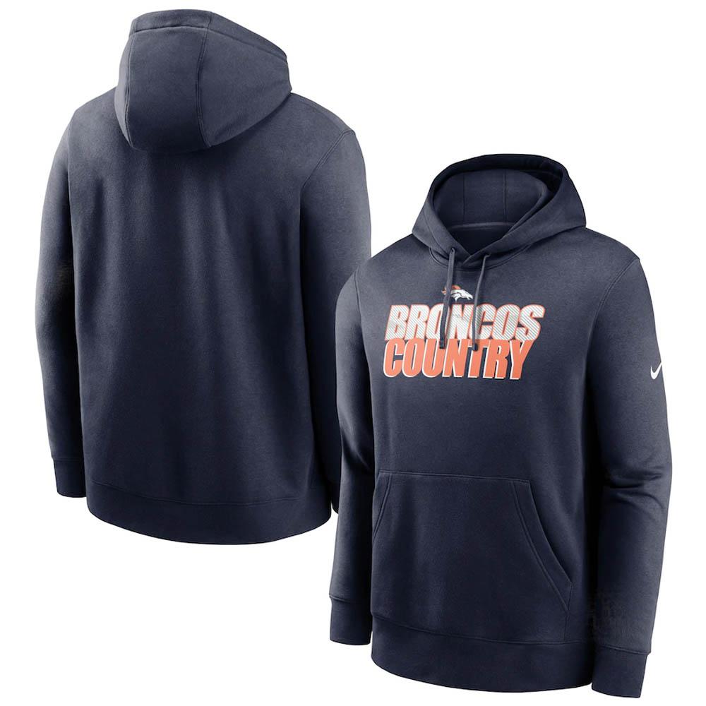 あす楽対応 定番ファングッズ ナイキNFLスローガンパーカー NFL ブロンコス パーカー フーディー Slogan Nike Pullover Hoodie ネイビー チープ ナイキ NKDK-CMD 送料無料 一部地域を除く OCSL