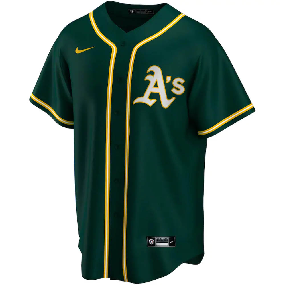 MLB オークランド・アスレチックス ユニフォーム/ジャージ 2020 レプリカ ナイキ/Nike グリーン