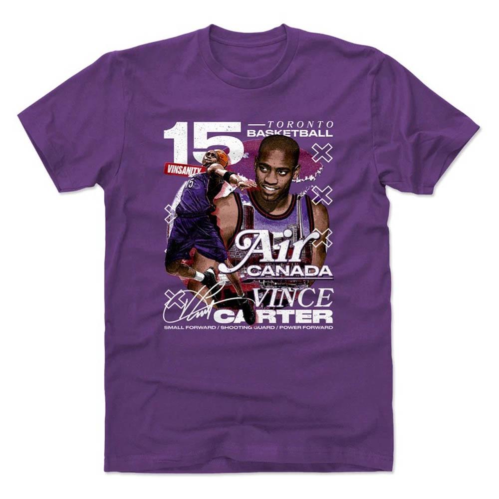 あす楽対応 NBAラプターズ ヴィンス 保障 カーター選手グラフィックTシャツ NBA カーター トロント ラプターズ Tシャツ OCSL Player Cotton 500LEVEL 保障 Art T-Shirt パープル