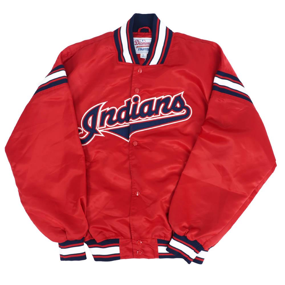 あす楽対応 激レアストック 予約 早割クーポン インディアンス ジャケット MLB クリーブランド クラシック デッドストック STARTER アウター レッド