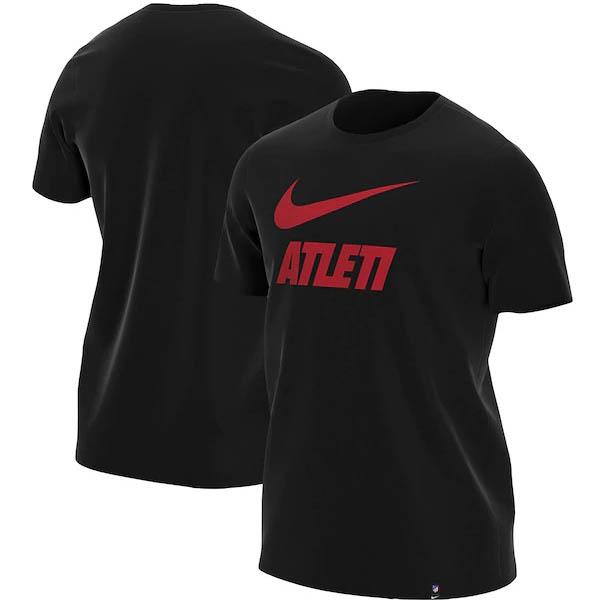 あす楽対応 スペインサッカーの名門 アトレティコ メーカー直売 マドリーグッズ 期間限定の激安セール マドリード Tシャツ サッカー ナイキ T-Shirt OCSL ブラック Printed Nike SOCCER