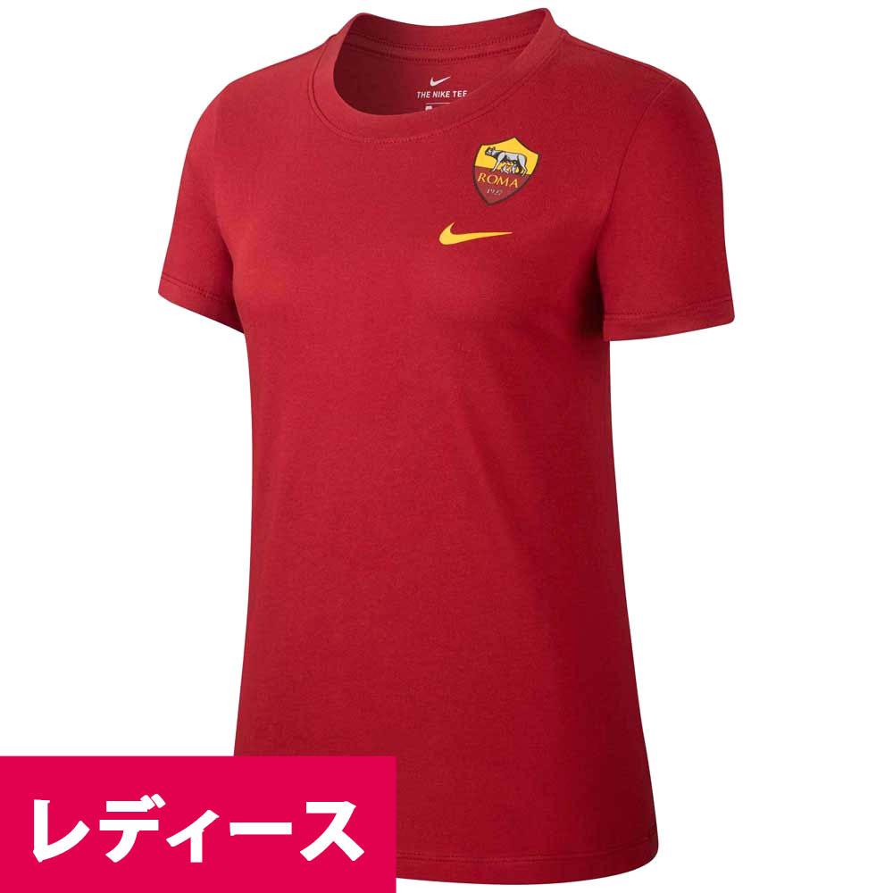 あす楽対応 ローマ19 20デザインロゴ ウィメンズTシャツ ASローマ Tシャツ tシャツ ナイキ セール 特集 販売 セリエA 20 Nike レッド 2019 半袖 レディース