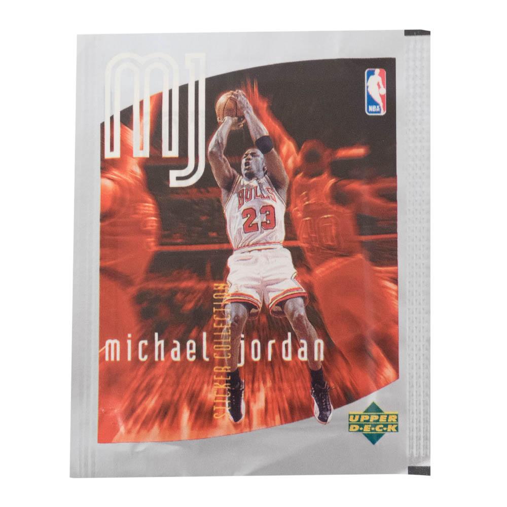 あす楽対応 激レア マイケル ジョーダンステッカーコレクション1998 ジョーダン NBA シカゴ ブルズ x 1998 お気にいる Upper 10 10パックセット 1パック6枚入り ステッカーコレクション Deck 返品交換不可