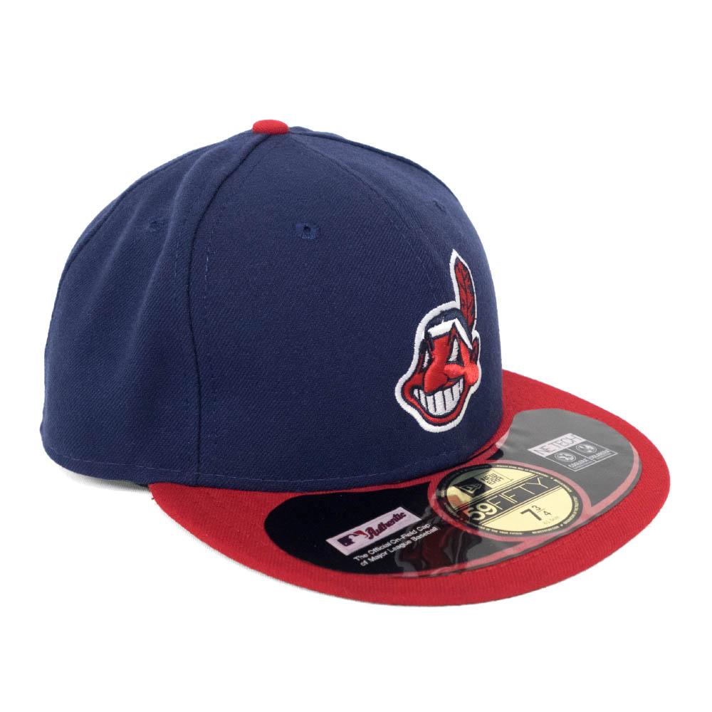 あす楽対応 MLBインディアンス ワフー酋長キャップ インディアンス キャップ 帽子 MLB オーセンティック Wahoo ホーム New 59FIFTY ワフー酋長 Chief 特価品コーナー☆ Era 新商品 ニューエラ