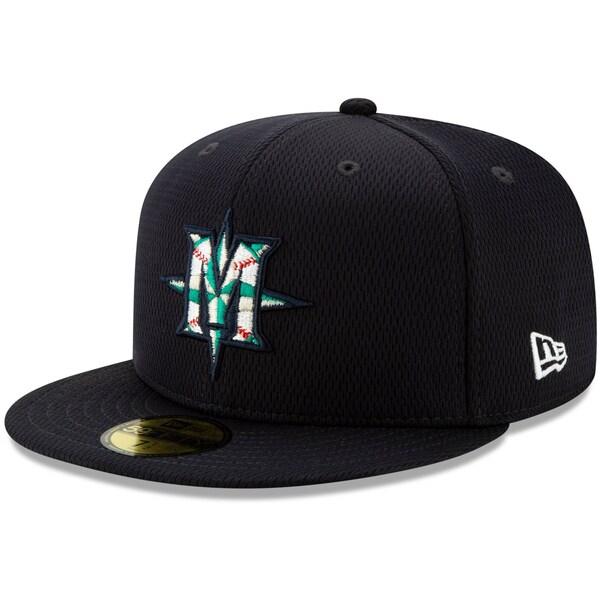 あす楽対応 MLBニューエラ2021スプリングトレーニング59FIFTY マリナーズ キャップ ニューエラ New Era 半額 59FIFTY 実物 21nrs Fitted ネイビー MLB 2021スプリングトレーニング Hat