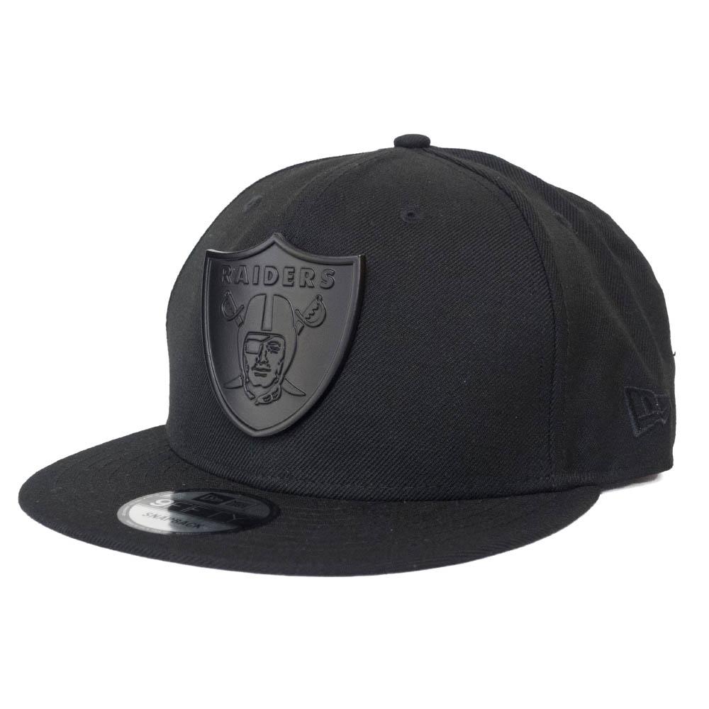 あす楽対応 NFLレイダース ブラックメタルロゴCAP NFL キャップ レイダース ブラックメタルエンブレム ニューエラ スナップバック 9FIFTY Black NewEra 2020モデル All 登場大人気アイテム