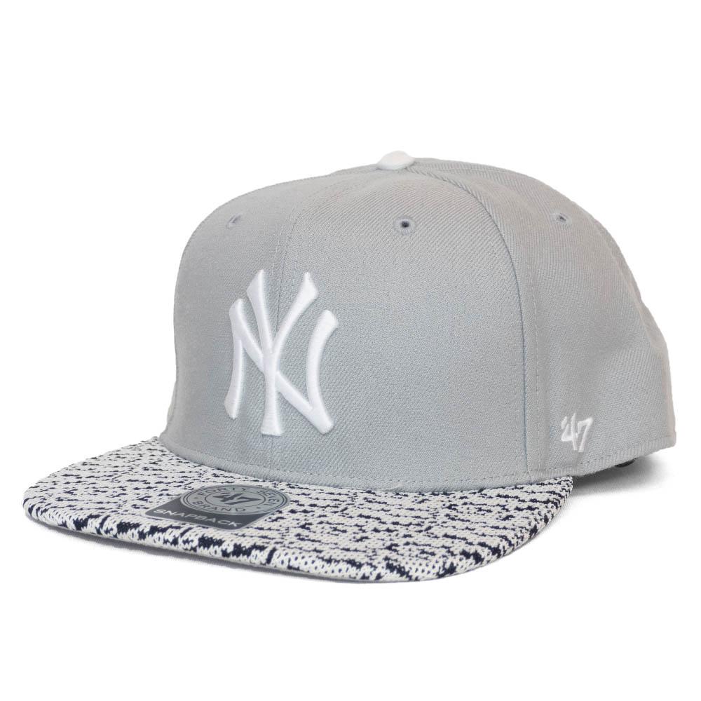 MLB x 47ブランド チームデザインキャップ ヤンキース キャップ Heartbreak ※アウトレット品 CAPTAIN White Snapback 新商品 新型 Brands Black 帽子 47 Hat