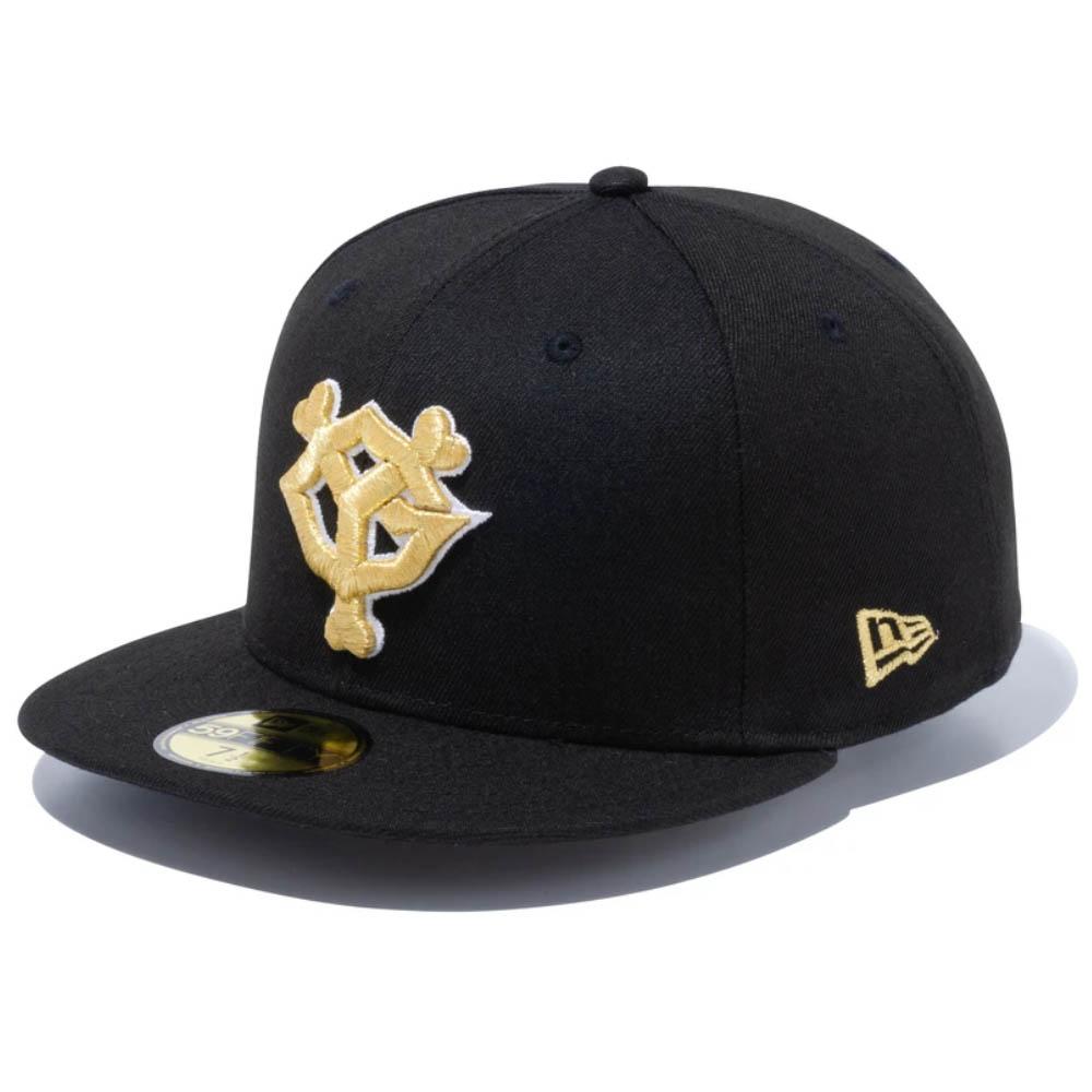 送料無料限定セール中 読売ジャイアンツ x NEW ERA 59FIFTYキャップ 巨人 グッズ 開店祝い ニューエラ キャップ GIANTS LOGO New ブラック Hat 59FIFTY Fitted Era ゴールド