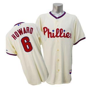 【リニューアル記念メガセール】MLB フィリーズ ライアン・ハワード ユニフォーム オルタネート マジェスティック Authentic Player ユニフォーム