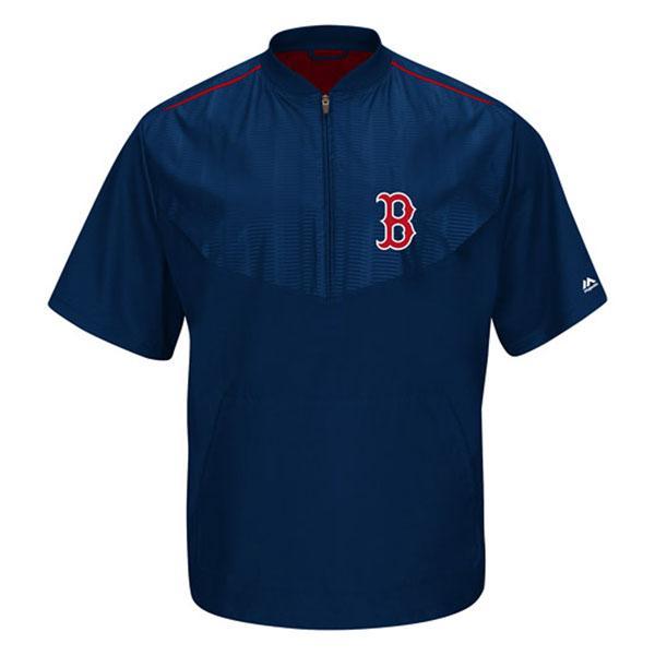 MLB レッドソックス ジャケット ネイビー マジェスティック 2015 On-Field ショート Sleeve Training ジャケット