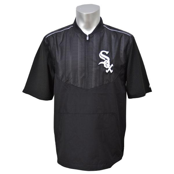 MLB ホワイトソックス ジャケット ブラック マジェスティック 2015 On-Field ショート Sleeve Training ジャケット