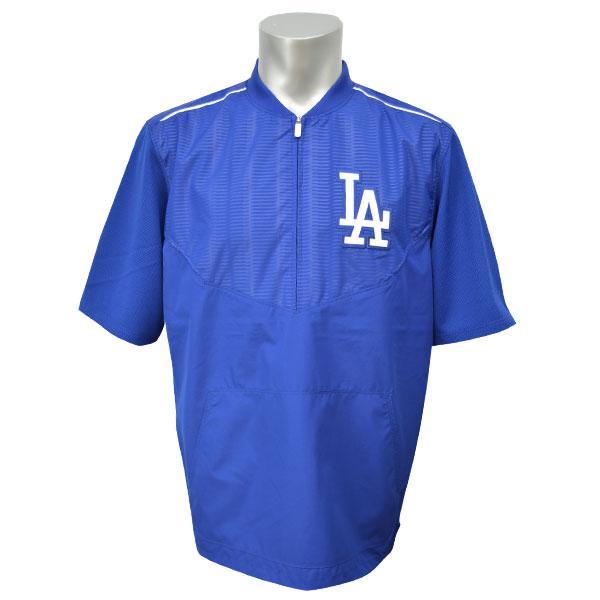 MLB ドジャース ジャケット ブルー マジェスティック 2015 On-Field ショート Sleeve Training ジャケット