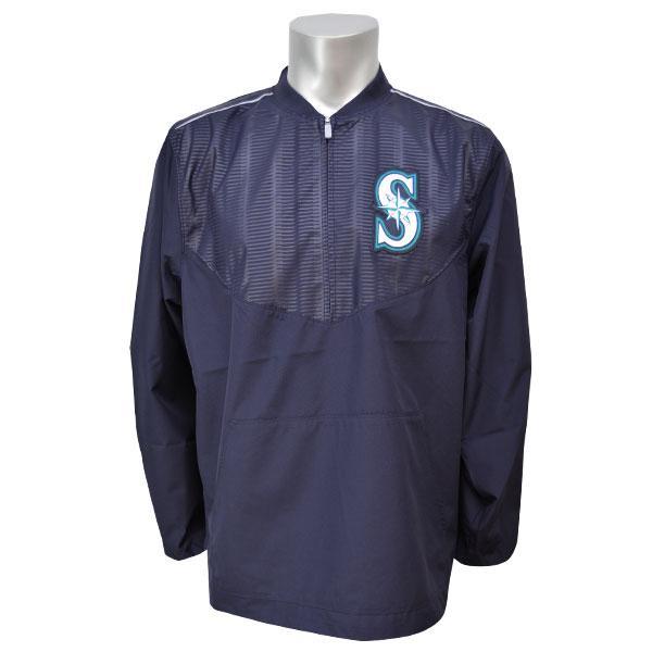 MLB マリナーズ ジャケット マジェスティック 2015 On-Field Long Sleeve Training ジャケット【1810MLB】