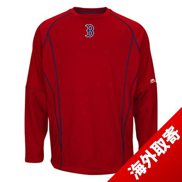 MLB レッドソックス フリース レッド マジェスティック 2015 On-Field Practice Pullover Fleece