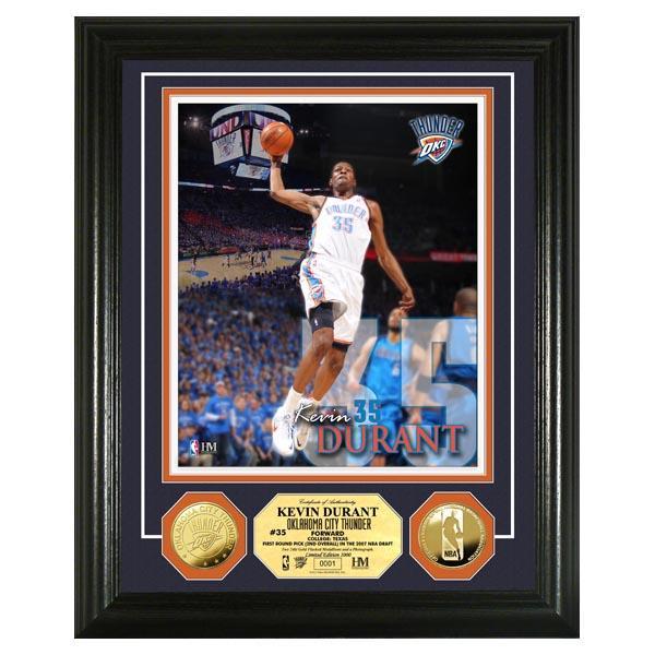 NBA サンダー ケビン・デュラント フォトフレーム ハイランドミント Kevin Durant Gold Coin Photo Mint