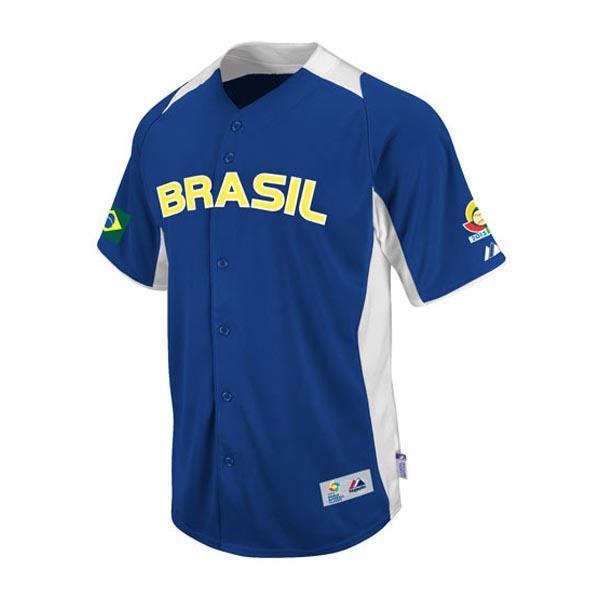 2013 representative from WBC Brazil World Baseball Classic On-Field Replica uniform (road) Majestic