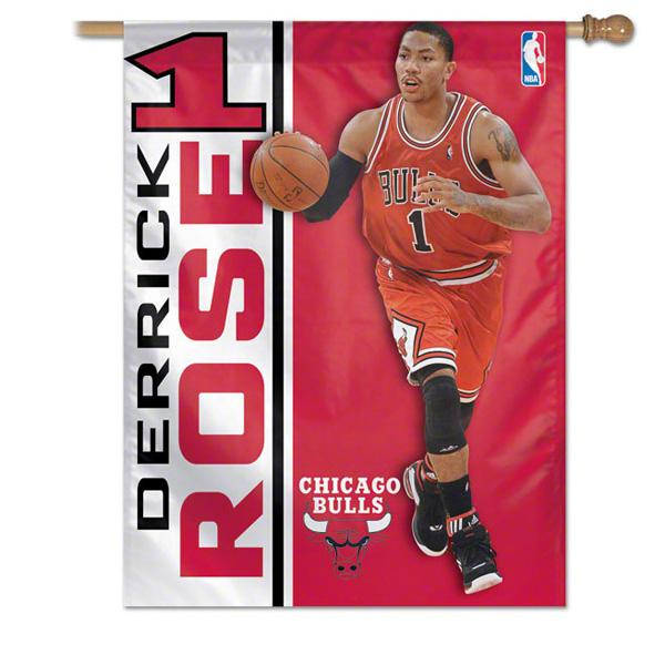 And the NBA bulls Derrick rose flag win craft /WinCraft 27x37 Banner Flag