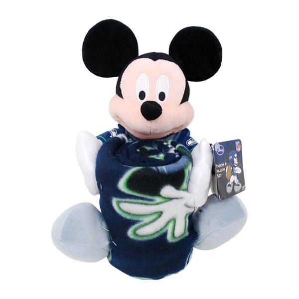 NFL シーホークス ぬいぐるみ ノースウェスト/Northwest Mickey Shaped Pillow with Fleece Throw Set