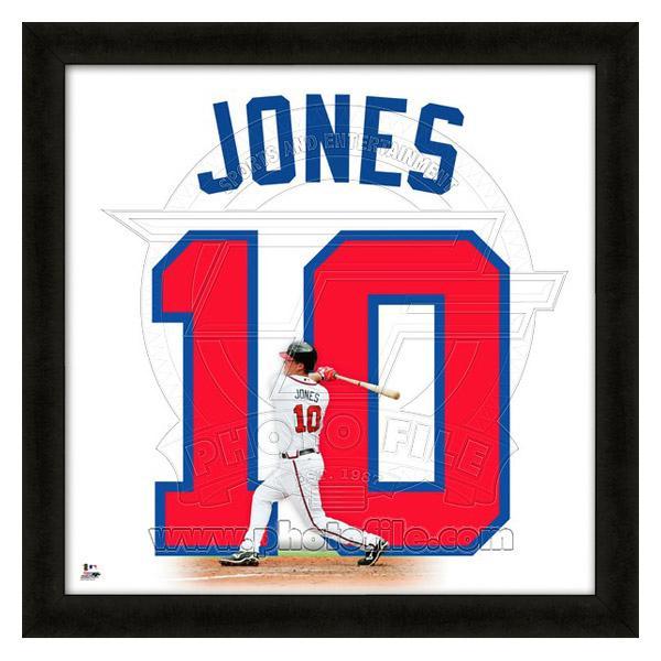 お取り寄せ お取り寄せ お取り寄せ MLB ブレーブス チッパー・ジョーンズ フォト ファイル/Photo File UNIFRAME 20 x 20 Framed Photographic