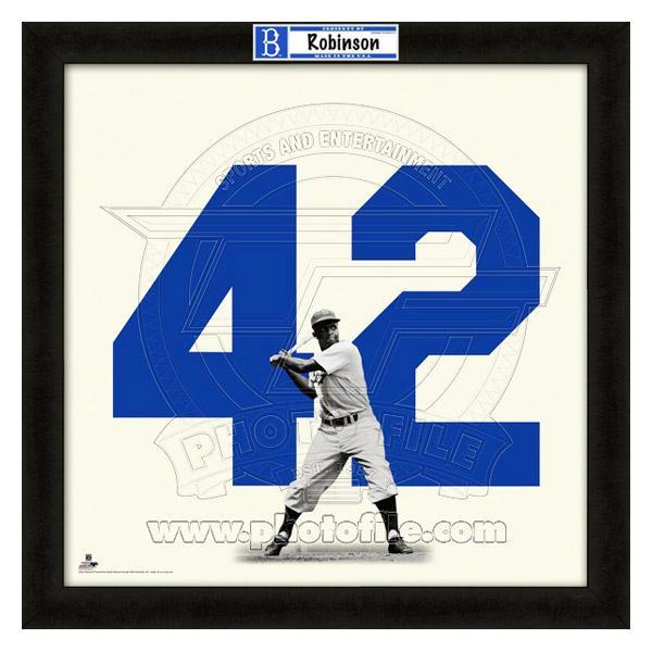 お取り寄せ MLB ドジャース ジャッキー・ロビンソン フォト ファイル/Photo File UNIFRAME 20 x 20 Framed Photographic
