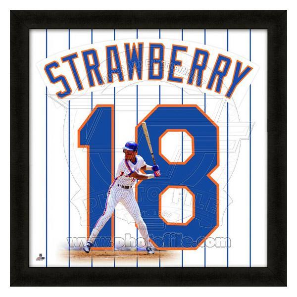 お取り寄せ MLB メッツ ダリル・ストロベリー フォト ファイル/Photo File UNIFRAME 20 x 20 Framed Photographic