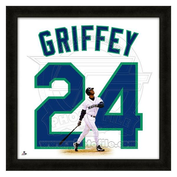huge selection of 43f26 4cdae MLB Mariners Ken Griffey JR. FAT file /Photo File UNIFRAME 20 x 20 Framed  Photographic